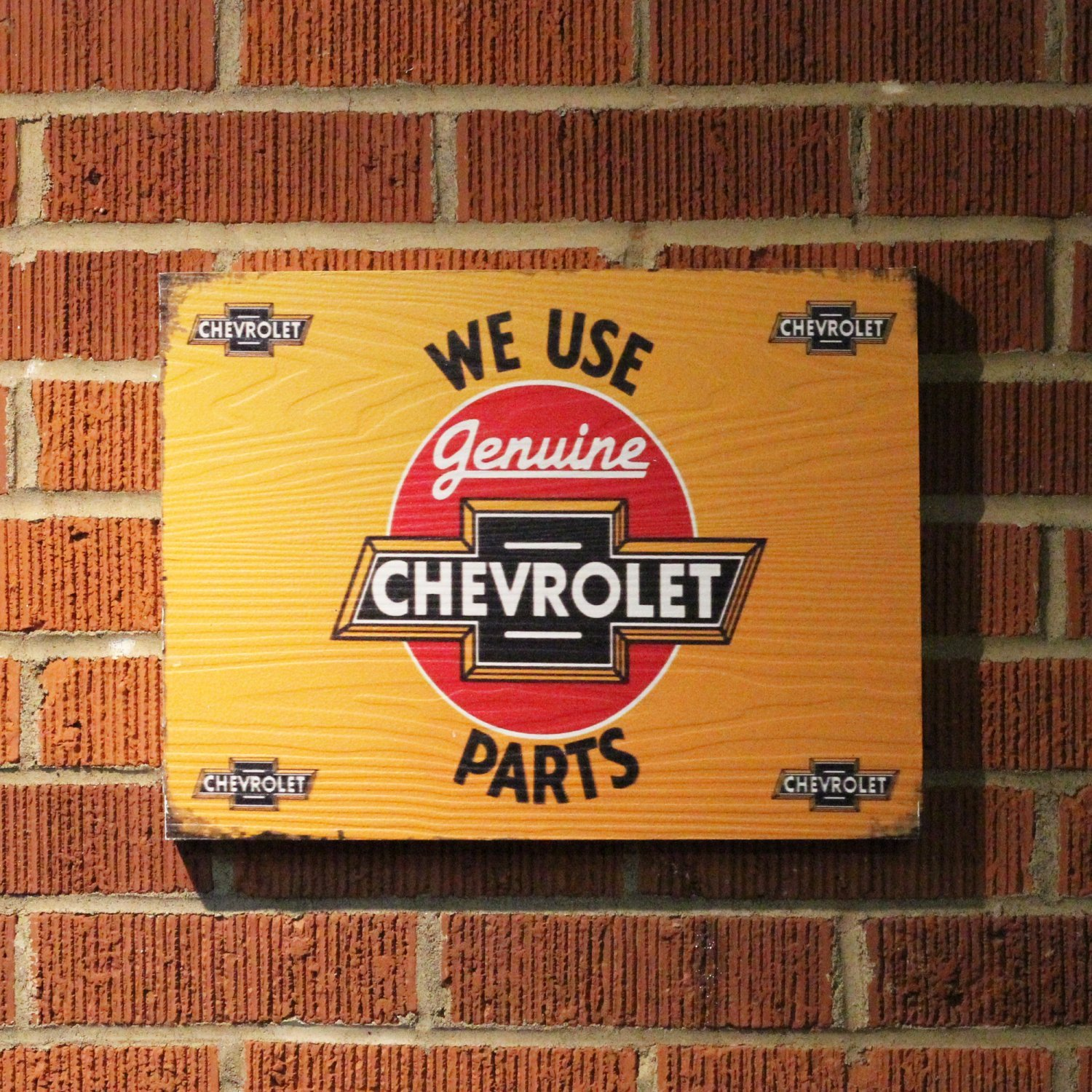 Vintage Parts 323949 We Use Chevrolet Parts Wooden Sign