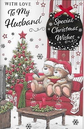 To My Wonderful Husband Christmas Card
