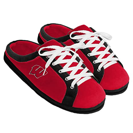 f508a2fd6 Forever Collectibles Wisconsin Badgers Sneaker Slide Slippers, Small (7/8)