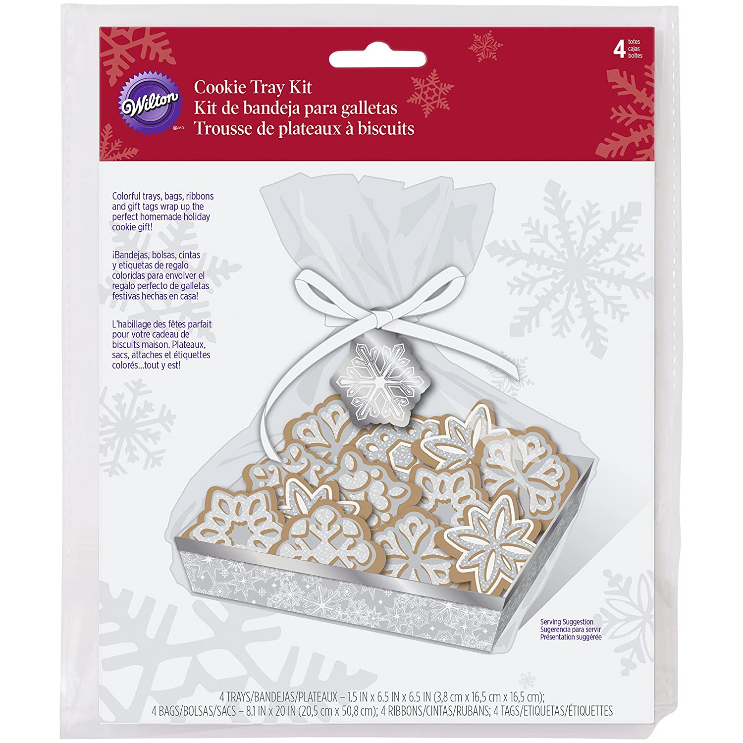 Amazon.com: Wilton Snowflake Cookie Tray Kit - 4 Sets (1 ...