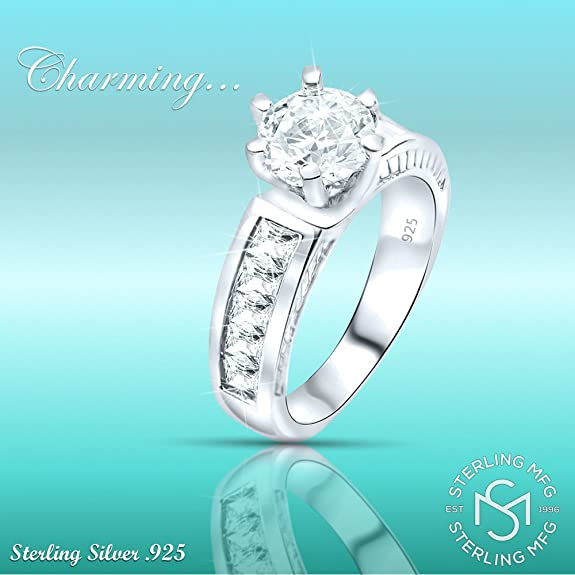 FB Jewels Solid 925 Sterling Silver Pink Cubic Zirconia CZ Sixteen Charm