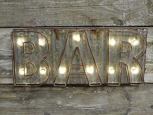 Vintage Bar Pub casa iluminada LED Light Up letras Man Cave ...