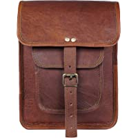 Bandolera pequeña de piel para hombre y mujer, hecha a mano para iPad, tableta, MacBook, bolsa de mensajero vintage…