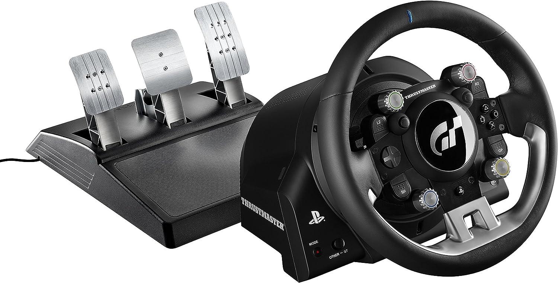 Thrustmaster T-GT - Volante de carreras para PS4 / PC con licencia oficial Gran Turismo Sport - 3 Pedales - Force Feedback: Amazon.es: Videojuegos