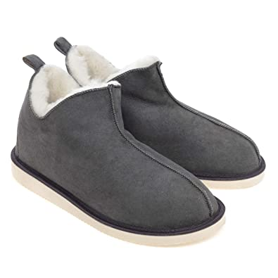 880e448371e Ciora Men's Alpin Ankle Boot Sheepskin Slippers