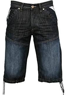 Mens Kam Big Plus Size Denim Fade Cargo Casual Shorts Pockets 42 44 46 48 50