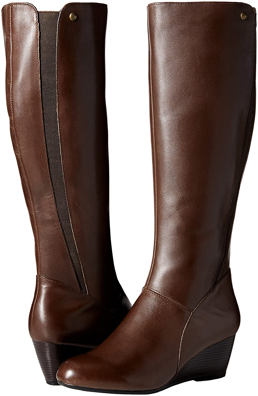 Hush Puppies Women's Pynical Rhea Boot B01BGQJ6LU 9 W US|Dark Brown Leather