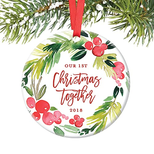 Amazon.com: Our First Christmas Together Ornament 2018, Boyfriend ...