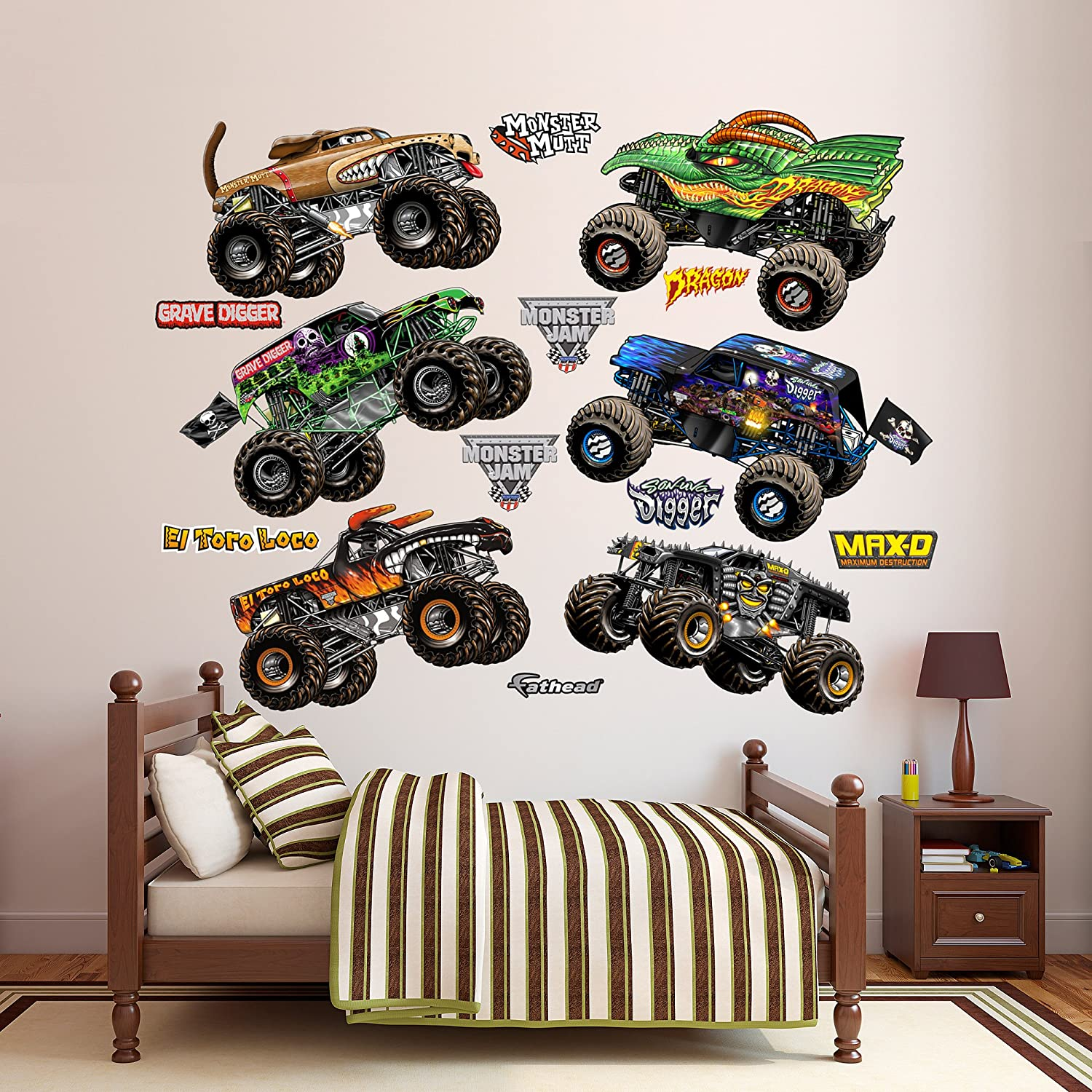 Fathead Cartoon Monster Jam Trucks Collection Vinyl Decals - 1053-00029