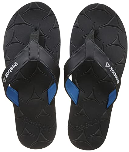 812b6c8af Reebok Men s Gradient Flip III Coal Cycleblue Metsil Wht House Slippers - 10