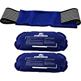 Ice Pack (2-Piece Set) – Reusable Hot and Cold Therapy Gel Wrap Support Injury Recovery, Alleviate Joint and Muscle Pain – Ro