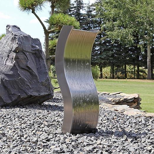 CLGarden ESBS70 Fuente de jardín, Pared de Agua, Acero Inoxidable ...