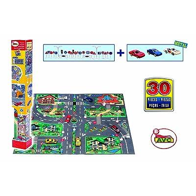 AVC - Tapiz Calm City C/3 Coches Y Señales En Caja: Juguetes y juegos