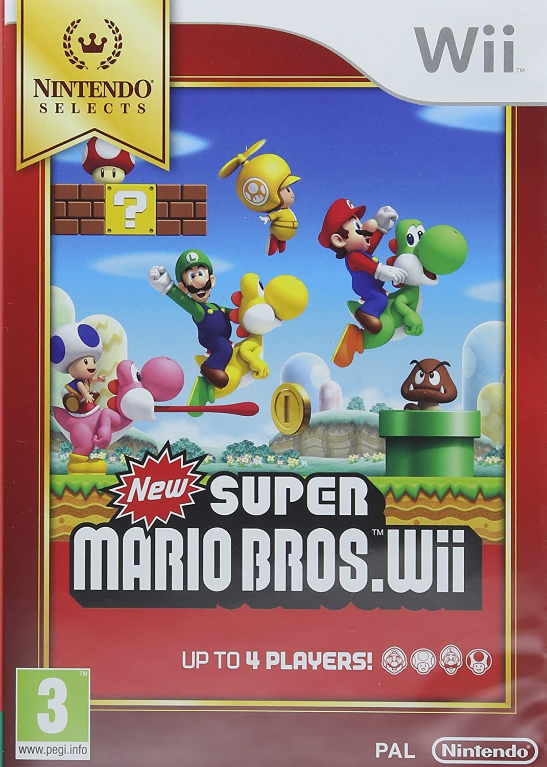 Amazon Com Nintendo Selects New Super Mario Bros Wii Nintendo