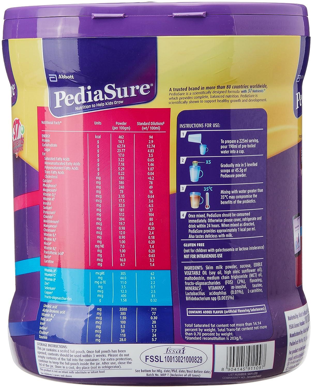 Pediasure Vanilla Delight 1 Kg Jar Complete Tin 400 Gr
