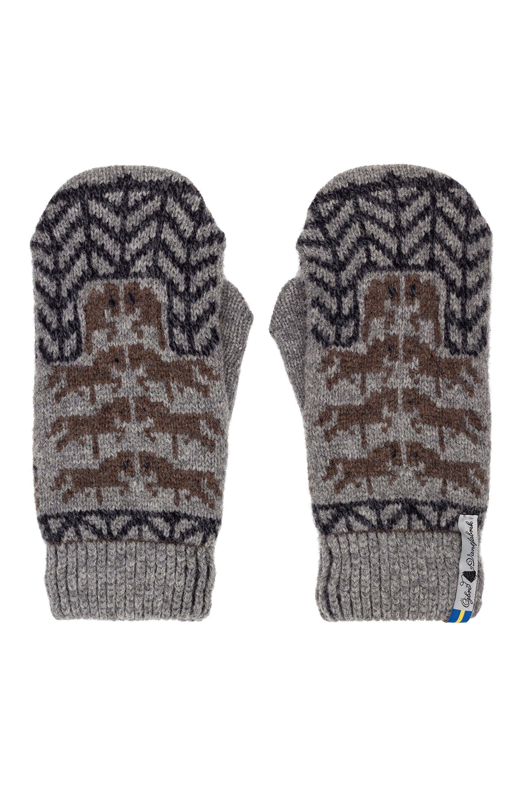 Öjbro Swedish made 100% Merino Wool Soft Thick & Extremely Warm Mittens (Medium, Gotland Grå)