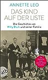 Das Kind auf der Liste: Die Geschichte von Willy Blum und seiner Familie (German Edition)