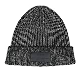 John Varvatos Black/White Mix Cotton Blend Knit Hat