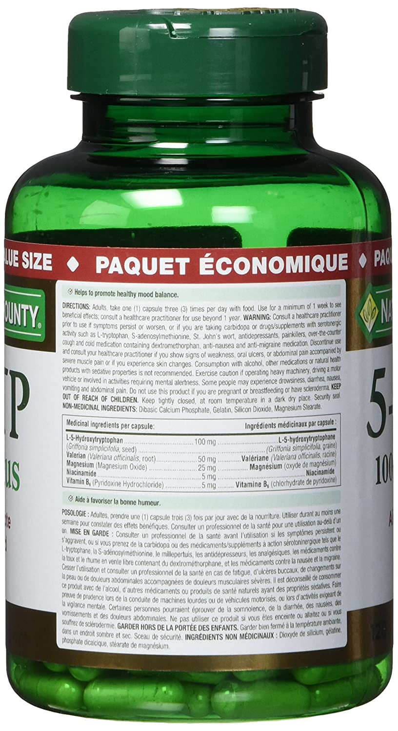 Natures Bounty 5 Htp Pills And Supplement Helps Promote Balanced