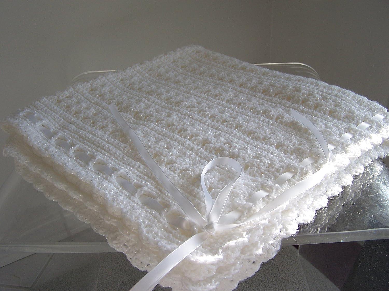 Hand Crochet Christening Blanket