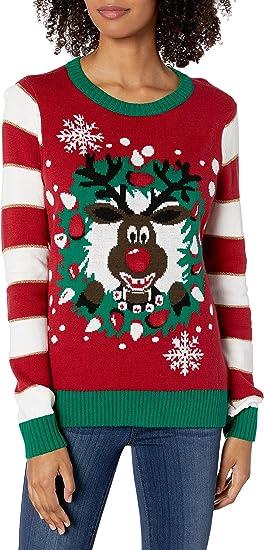 Ugly Christmas Sweater Company Mens Ugly Christmas Sweater-Doggy Elf