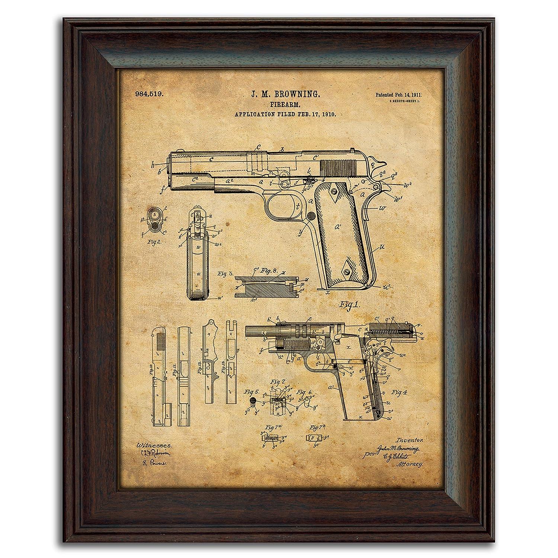 Amazon.com: 1911 Handgun Framed 14\