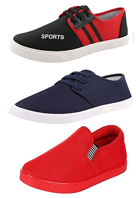 Combo Pack of 3 Casual Shoes at Amazon