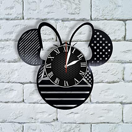 Olha Art Design Minnie Mouse Birthday Decoration Wall Clock Party Favors Disney