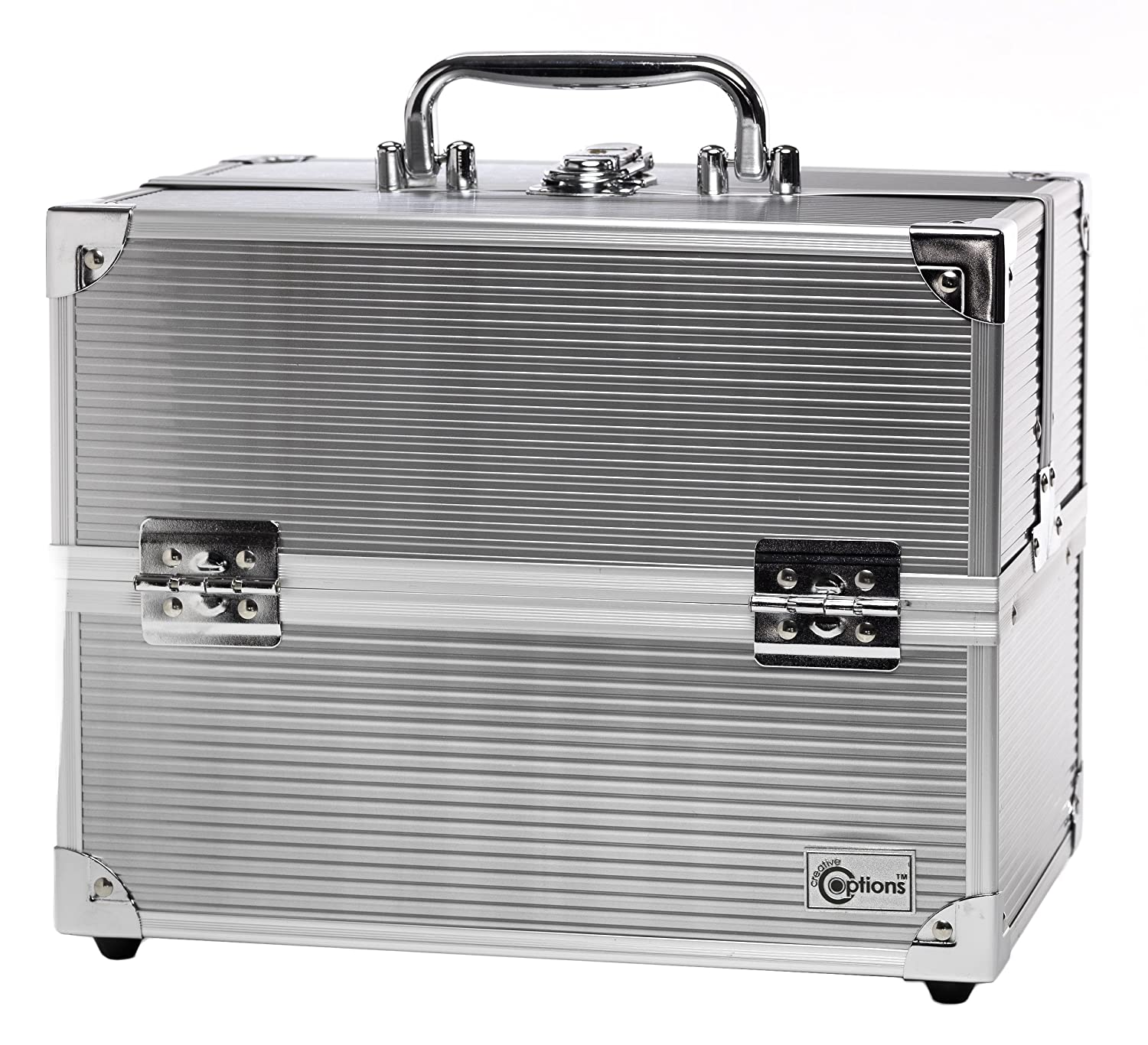 Creative Options Crafters Train Case Silver