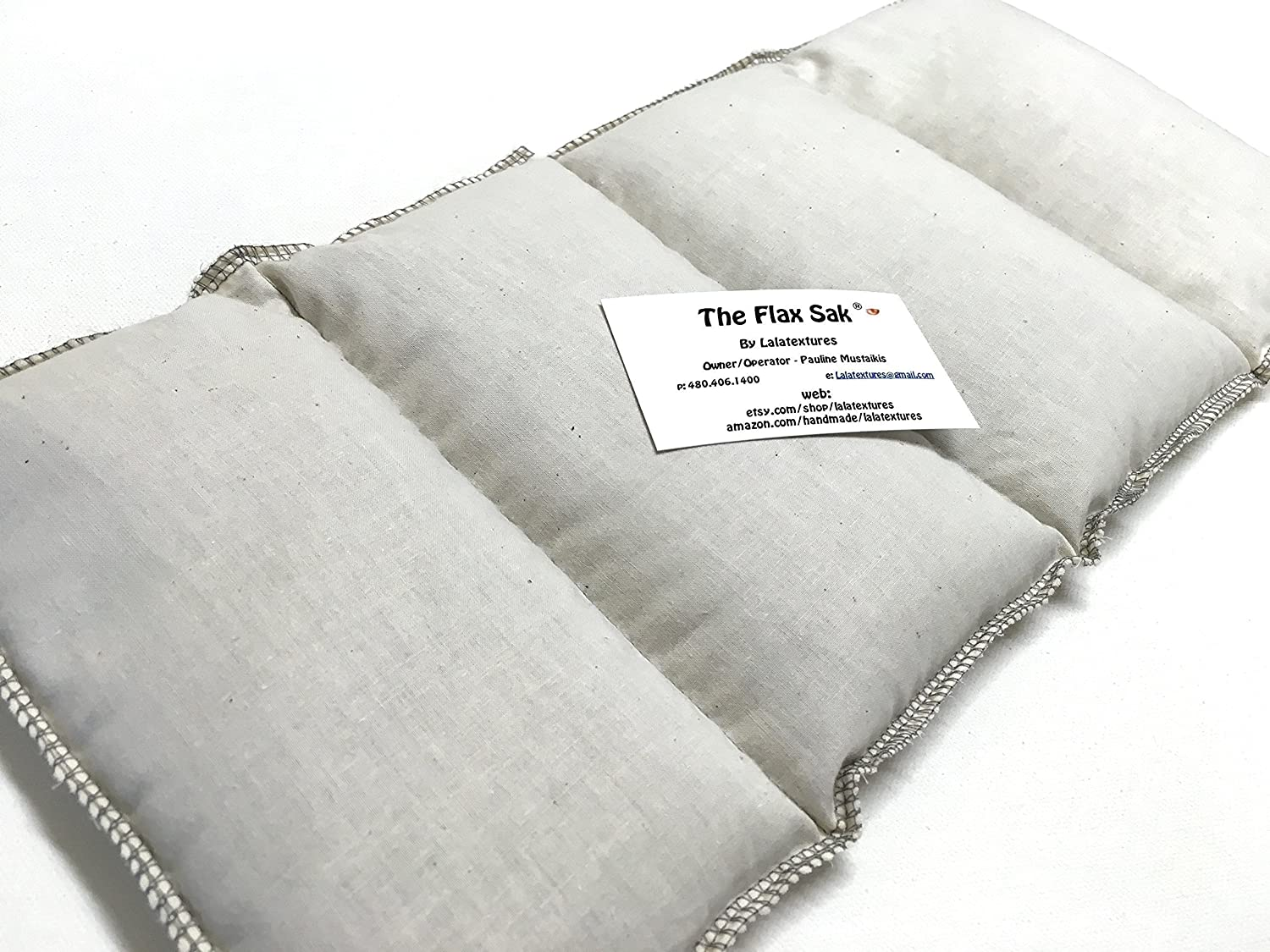 The Flax Sak®, Unscented Large Microwave Heat Pad With Washable Cover. Great Gift! Black and White Medallion The Flax Sak®