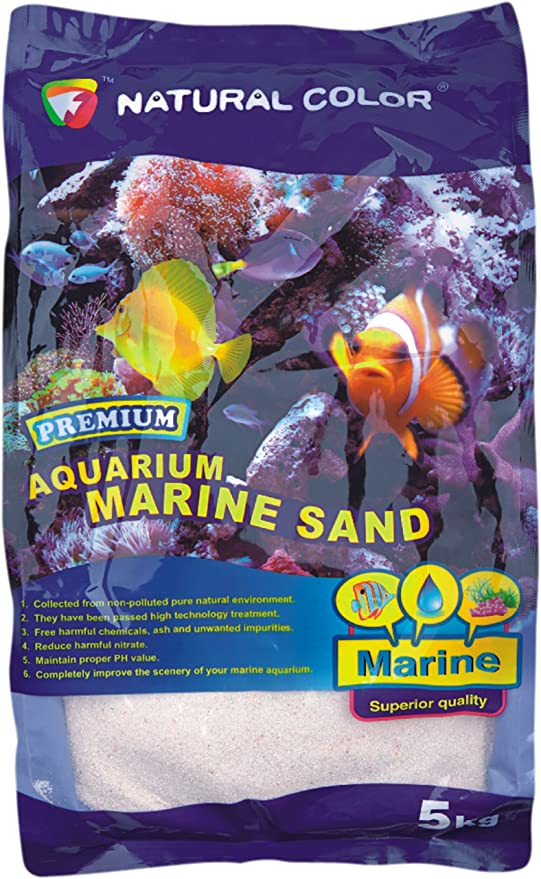 Arena Corallina Media 2 – 4 mm aragonita 5 kg fondo Acuario Marino Reef