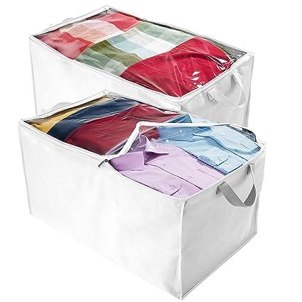 ZOBER Jumbo Blanket Storage Bags with Zipper Comforter Underbed Closet Soft Storage Plastic Bag  sc 1 st  Amazon.com & Amazon.com: ZOBER Jumbo Blanket Storage Bags with Zipper Comforter ...