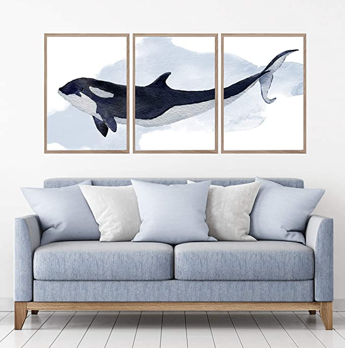 killer whale wall art whale gifts whale lover gift watercolor whale painting KILLER WHALE PRINT whale decor orca print whale artwork