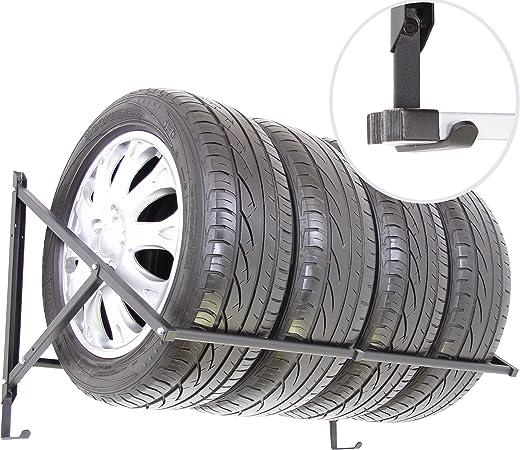 50cm Reifenhalter Wandhalterung Felgenhalter Wandhalter Reifenst/änder Felgenregal Reifenhalterung Reifenwandhalter 8 x Wand-Reifenhalter