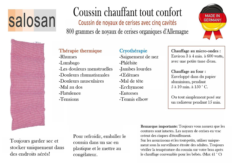 Coussin chauffant Beige S Coussin mall/éable Noyaux de Cerises 50x20 cm
