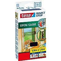 tesa Insect Stop Comfort Open/Close Vliegenhor - Rolhor - Raamhor met klittenband - Speciaal oprolsysteem, snij op maat…
