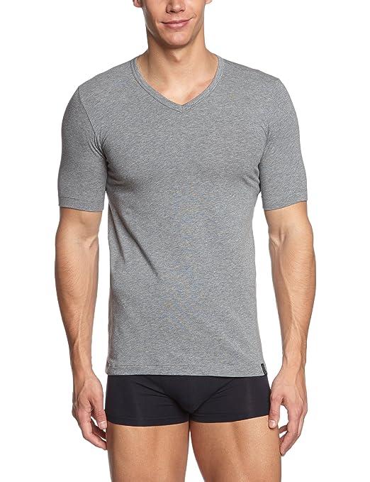 Camiseta interior para hombre, pack de 2, talla 50, color gris (grau mel) 202 Schiesser