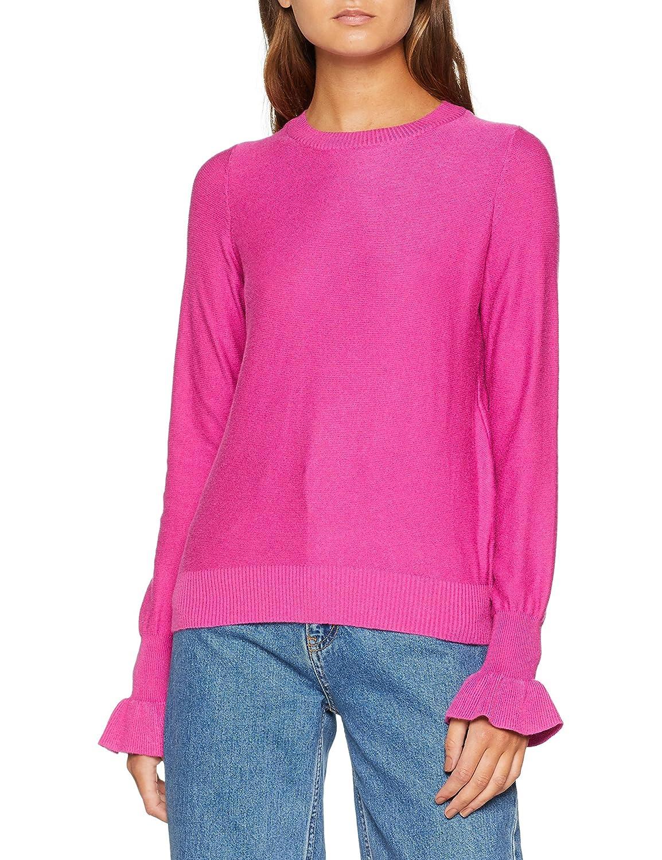 TALLA M. Vero Moda Vmgaltine LS Ruffle Cuff Blouse suéter para Mujer