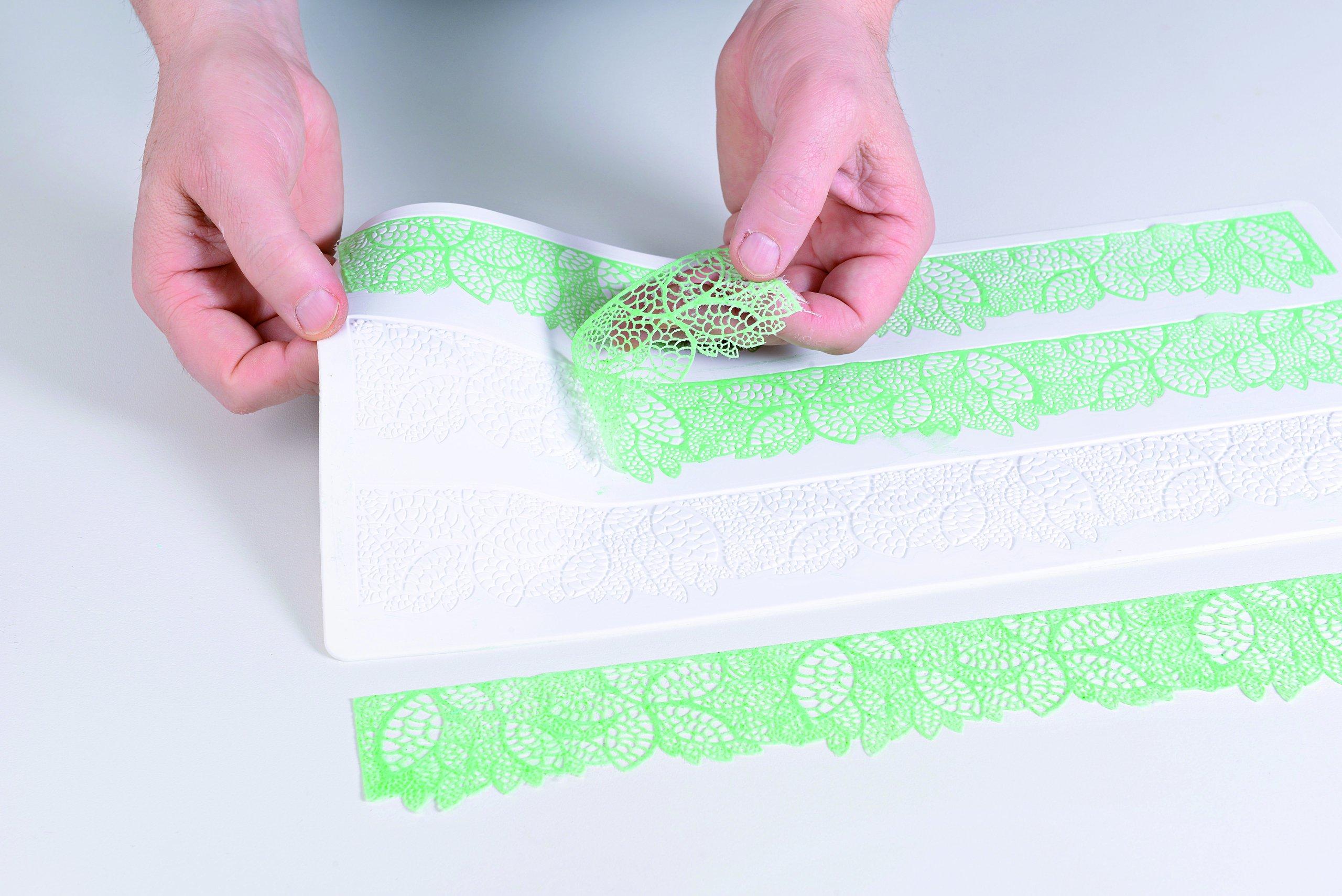 Silikomart Silicone Wonder Cakes Collection Sugar Lace Mats for Cake Decoration, Leaves by Silikomart (Image #3)