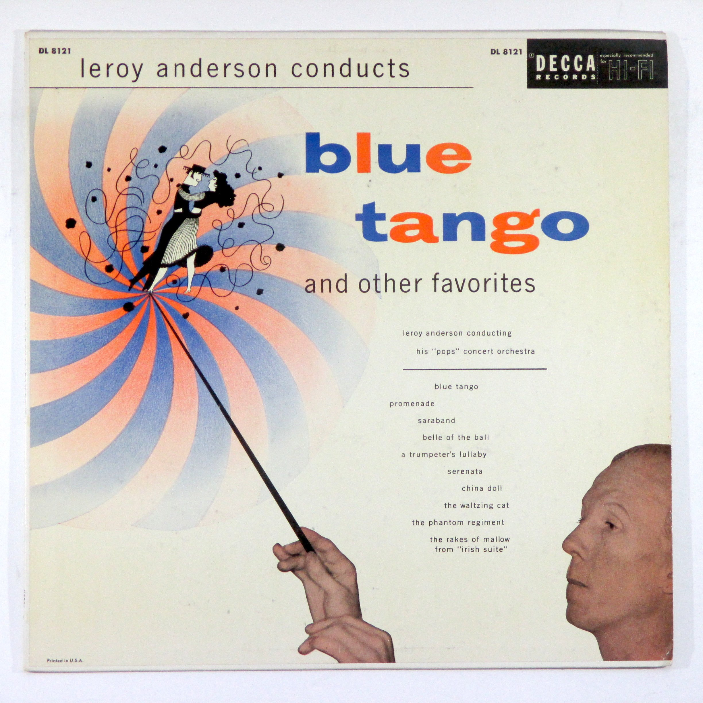 Leroy Anderson Conducts Blue Tango And Other Favorites by Decca DL 8121 Mono