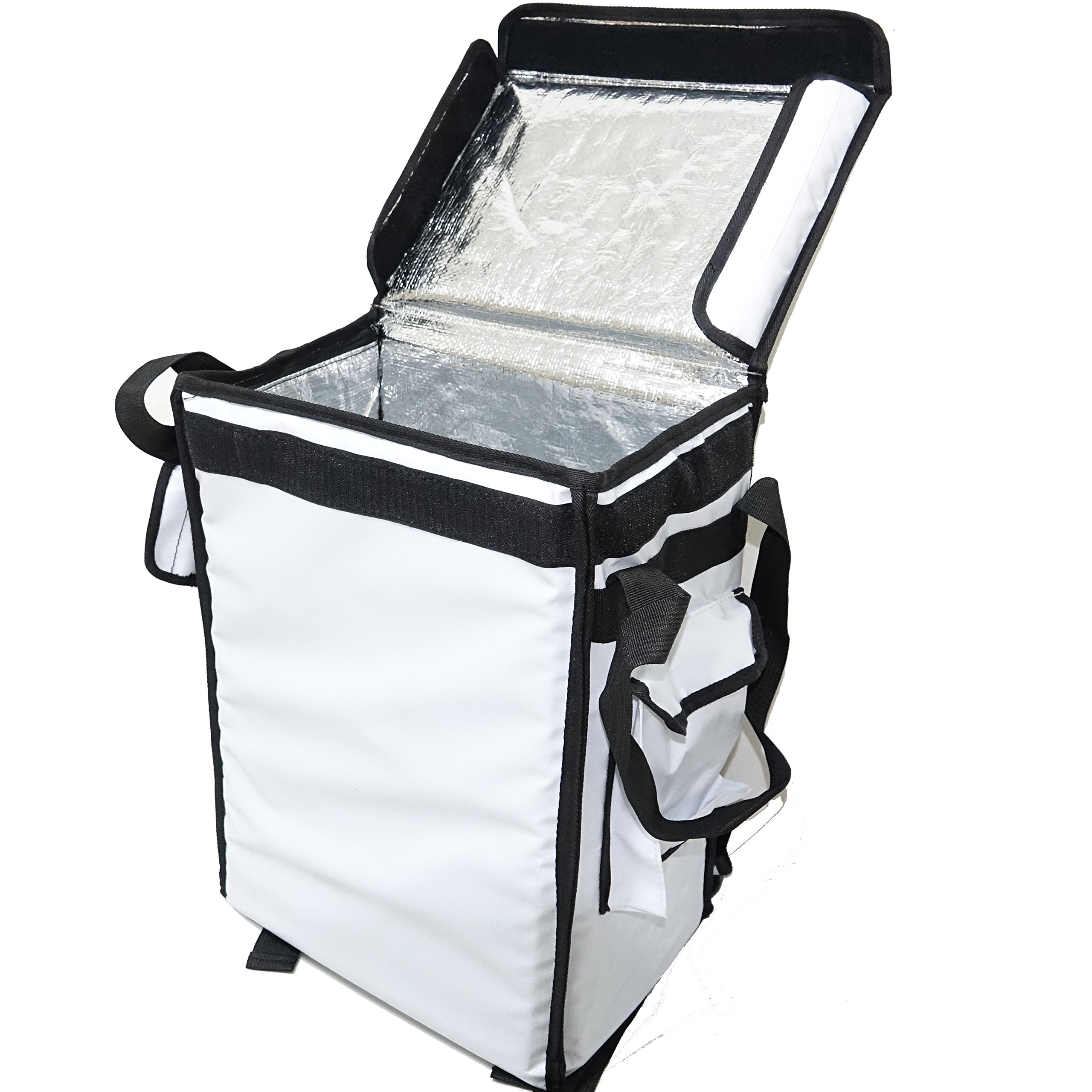 PK-33VW: Catering Delivery Food Bag, Warmer Backpack, Top Loading, 13'' L x 9'' W x 18'' H