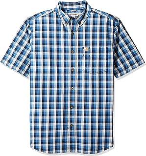 b1f54fb9c2fff Carhartt Men s Big   Tall Essential Plaid Button Down Collar Ss Shirt