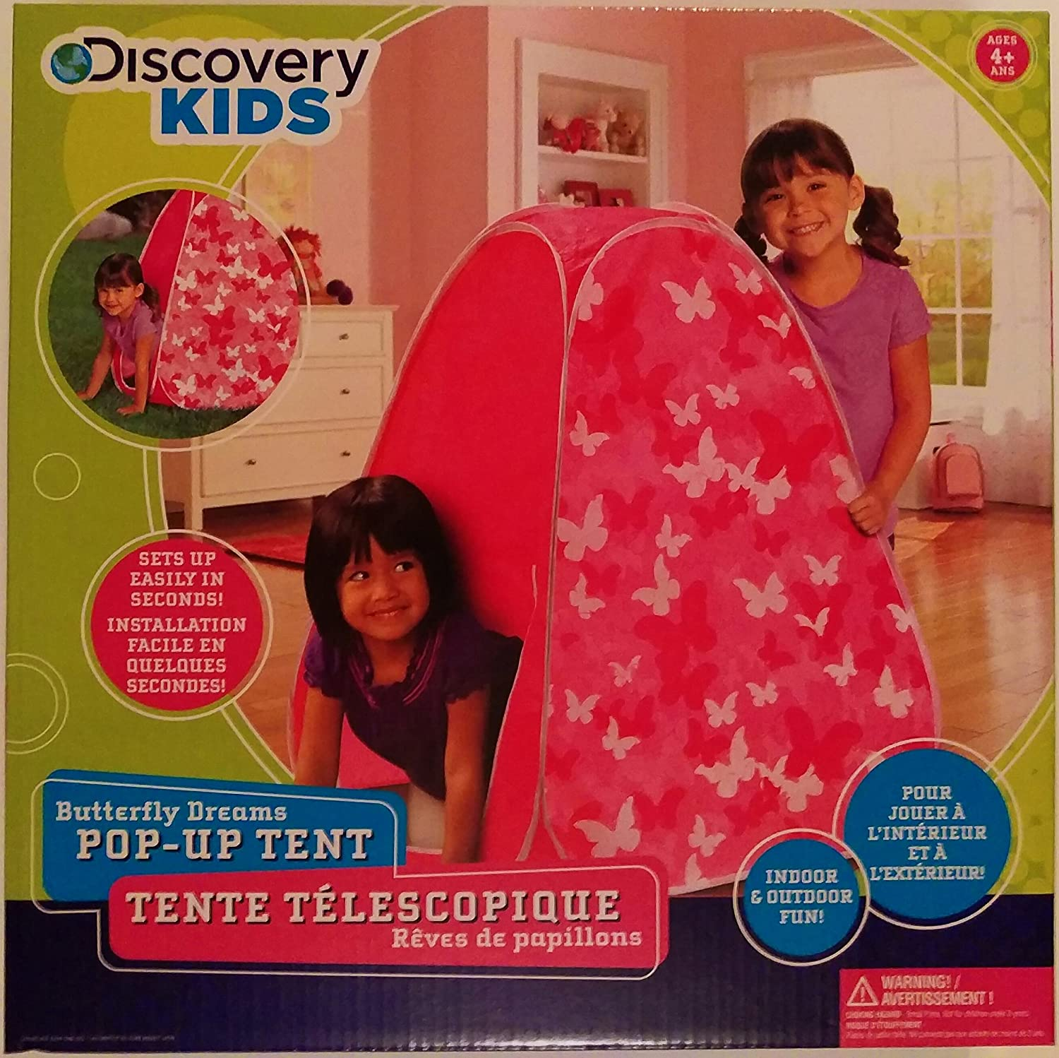 Discovery Kids Butterfly Dreams Pop Up Play Tent: Amazon.co