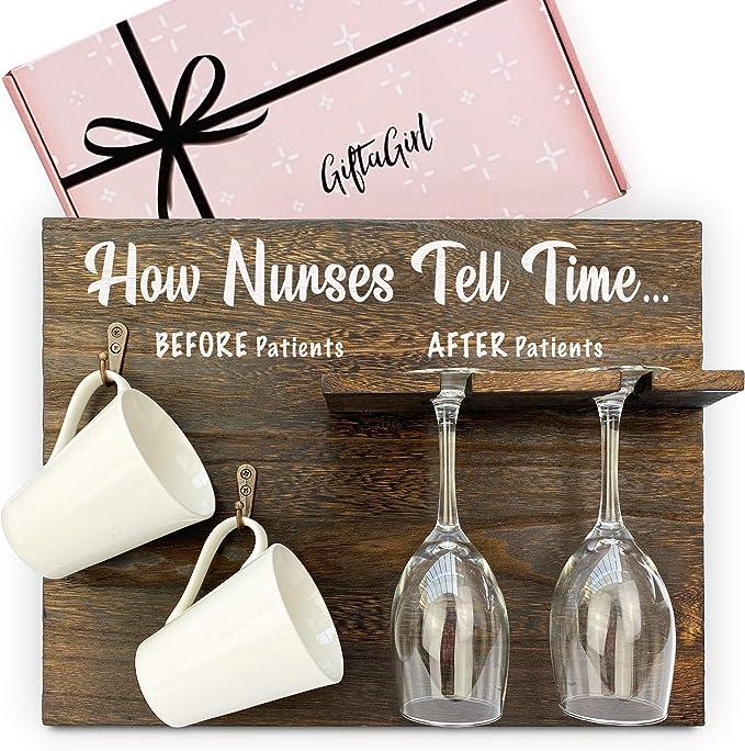 Nurse Wine Glass Funny Nurses Gift Work Wine Glass Funny Nurse Gift for Nurses RN Gift Nurse Girlfriend Gift Gag Nurses Wine Glass