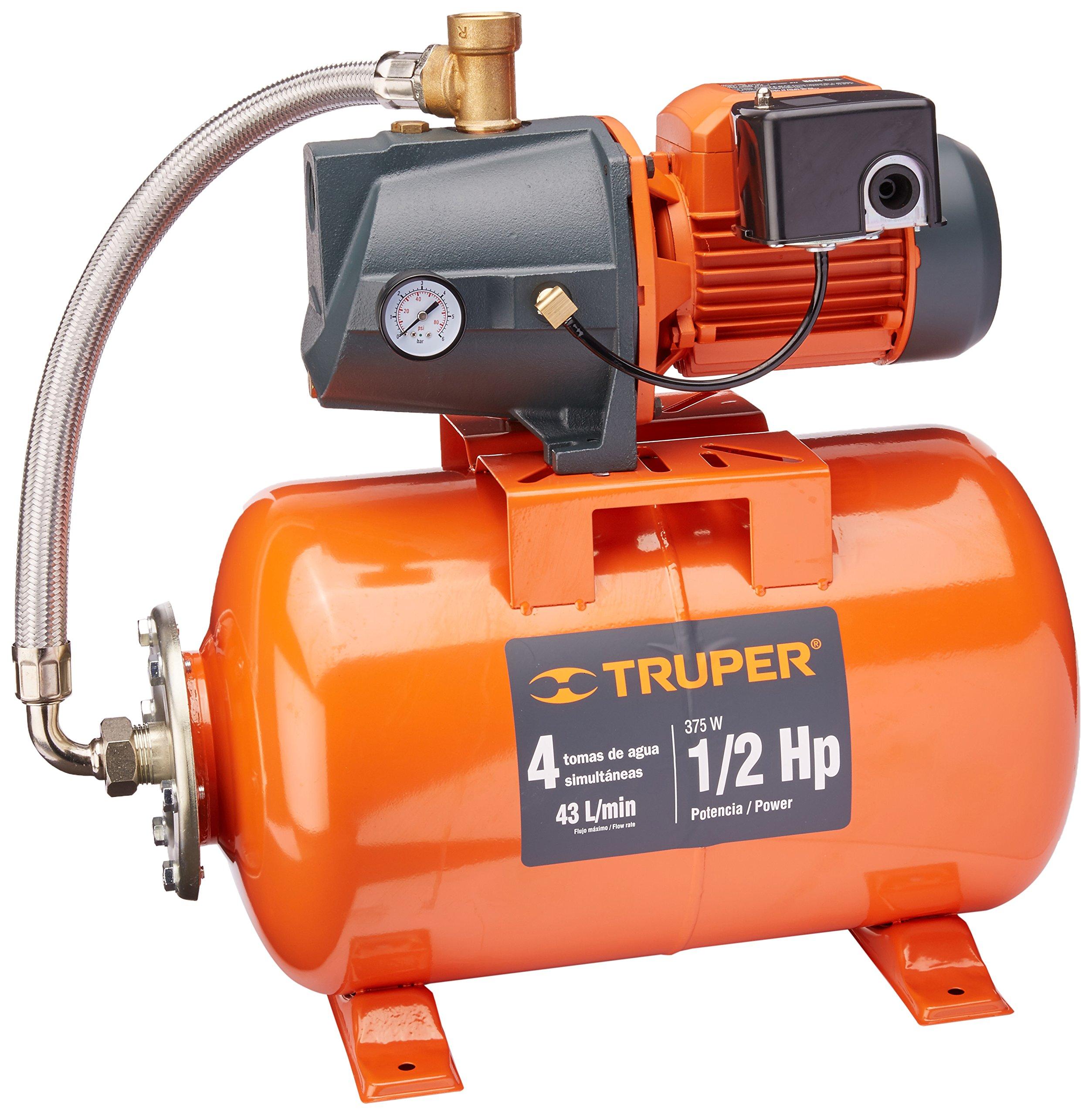 TRUPER HIDR-1/2X24 1/2 HP 11 GPM Jet Pump / Tank Systems 1/2Hp 6 Gal (24L)