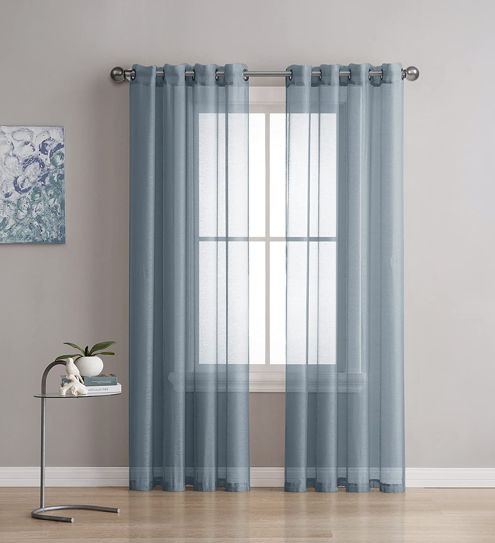 Amazon.com: Karina - Semi-Sheer Window Scarf (54 x 216) - Elegant ...