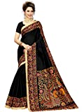 Indian Beauty Women's Kalamkari Cotton Blend Saree With Blouse