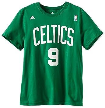 Adidas NBA Boston Celtics Rajon Rondo Juego Tiempo Manga Corta Camiseta básica de la Mujer,