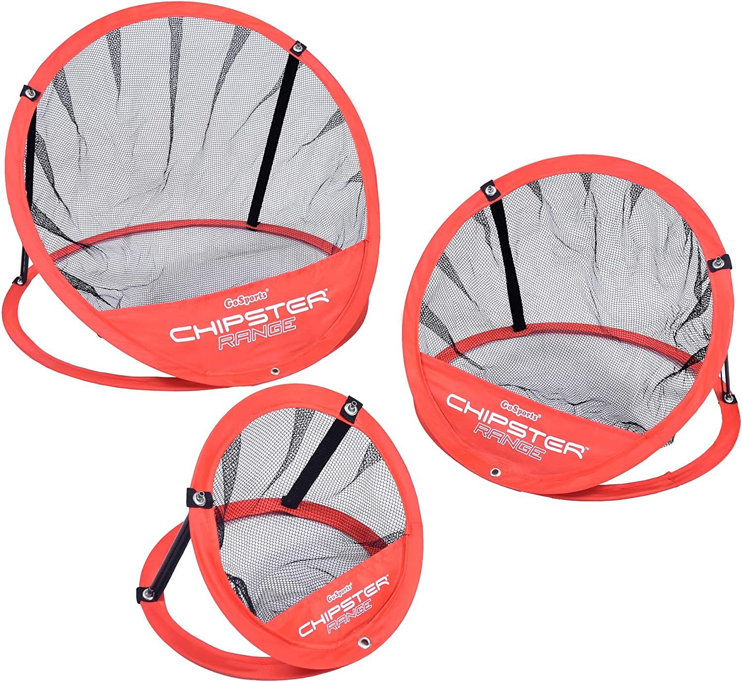 GoSports CHIPSTER Range - 3 Piece Golf Chipping Practice Net Target System with Carrying Case, Red : Sports & Outdoors