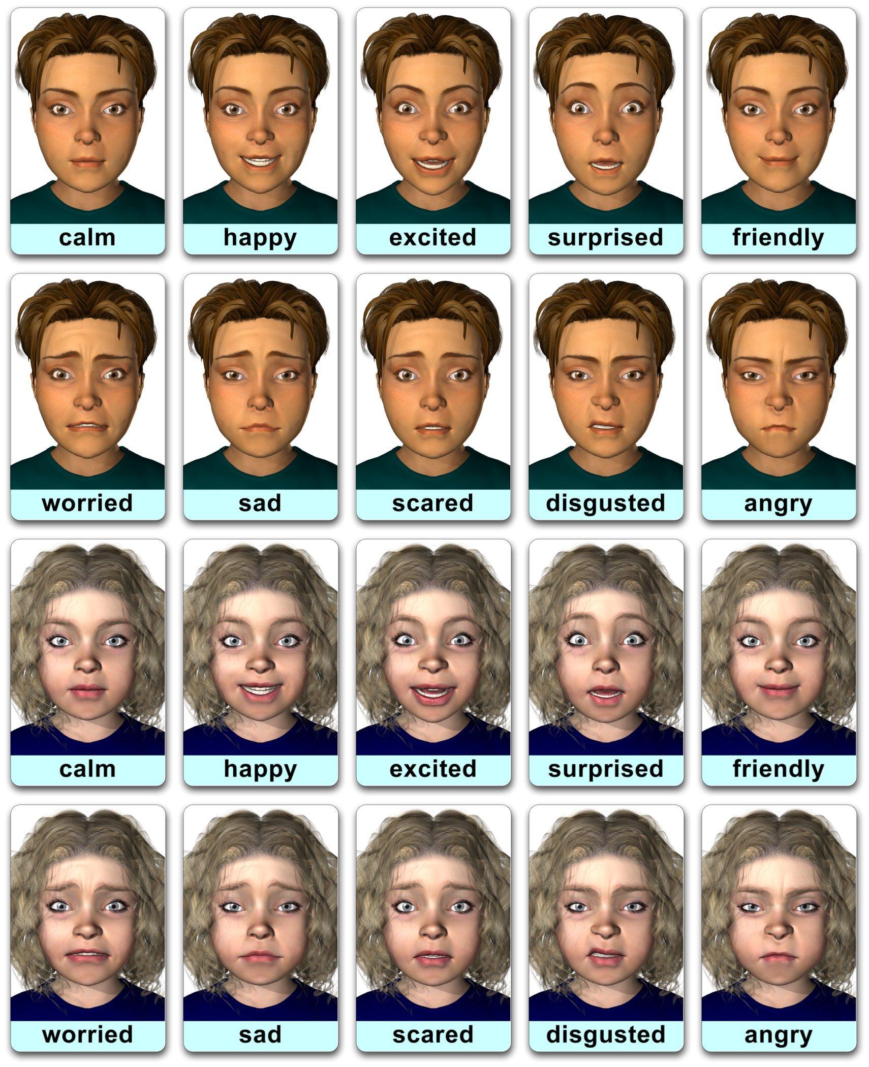 Face-cards: Emotion Flashcards